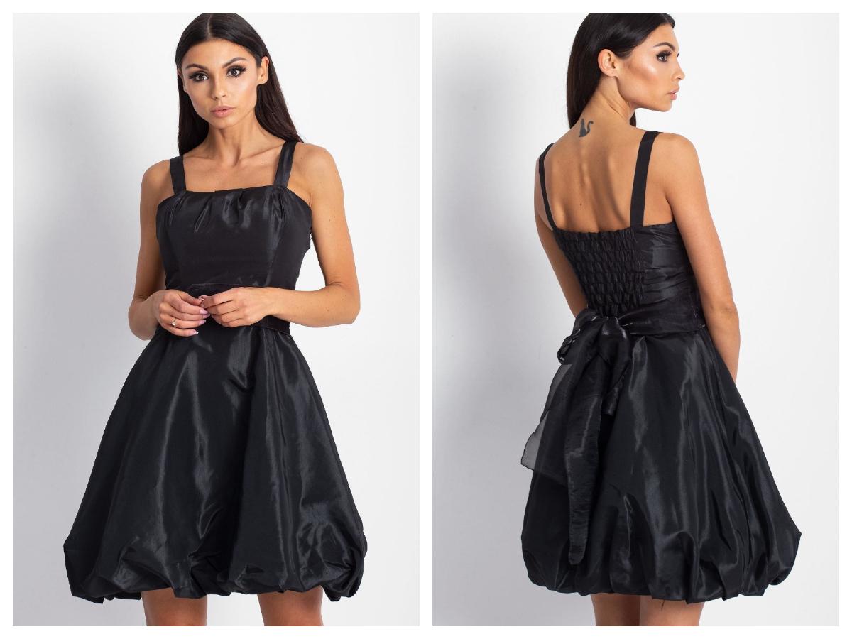 Satynowe sukienki z rozkloszowanym dołem