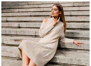 Sweterkowe sukienki na zimę – przegląd modeli